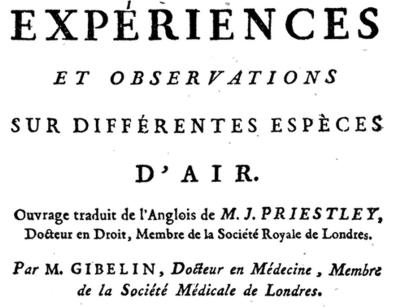 18 Livre Experiences Observations Air Priestley